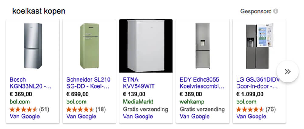 Toon je producten in Google Shopping